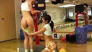 Chinese lesbian licking Cindy and Amber romping each other i
