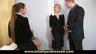 Nude job interview for sexy secretary