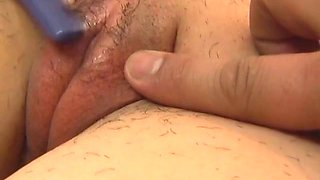 Himena Ebihara has her sweet pussy massaged and shaved