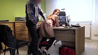 LOAN4K. Isabella gives her shaved vagina for fucking