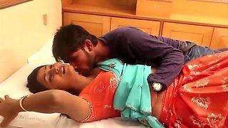 Telugu housewife saree draping below navel romance hot scene