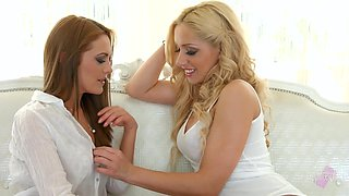 Two beautiful young women make love for the fist time