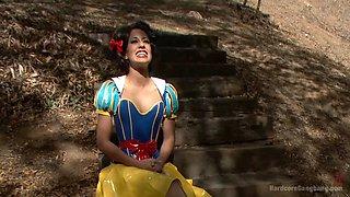 Lyla Storm Fairytale Princess Wakes Up To Brutal Gangbang