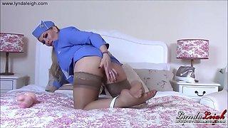Horny air hostess