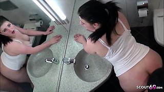 German Step Sister Seduce to Fuck in Bathroom bei Brother