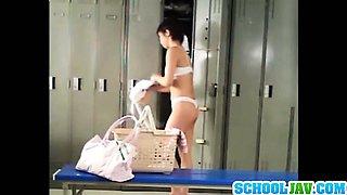 Delicious Japanese schoolgirl Ayumi Kimino rides thick dick