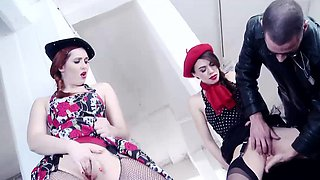 French beauties Angell Summers and Tiffany Doll accompany a