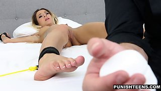 Rough abuse for a helpless bound slut