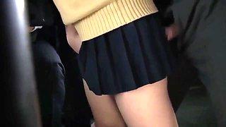 Asian Cutie Public Sex In The Bus