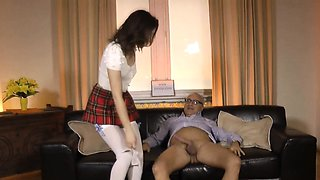 Russian amateur schoolgirl fucked by old man