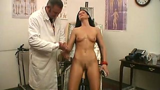 Sexy volunteer fucked by a machine like the doc prescribed