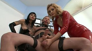 Milked and Sounded by 2 Mistresses