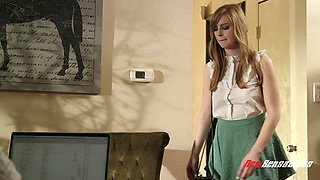 Perverted step daddy fucks pretty hot step daughter Dolly Leigh