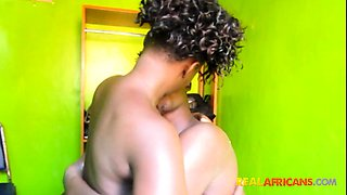 REAL - African boy and girl fuck first time