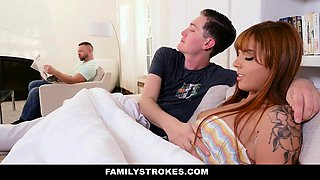 FamilyStrokes - Redhead Fucks Brother Behind Dads Back
