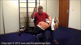 Leandra spanked and paddled