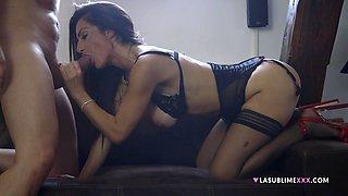 Pornstar Priscilla Salerno in stockings having amazing sex