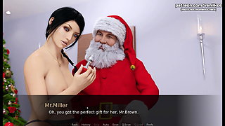 AEA Christmas Gift - College girl has threesome with two old men