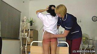 Nurse spanked hard