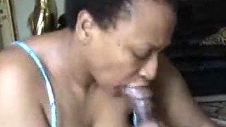 Black Granny Gives mean Head