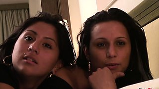 Watch how these two hot Spanish teen sisters take turns to