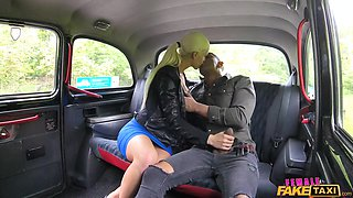 big black cock in a fake taxi