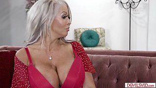 Busty mature stepmom is titfucked and anal reamed by stepson