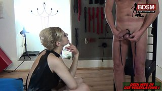 German bondage BDSM domina cbt fetish session with femdom