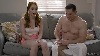 Lovely redhead with smooth bum Arietta Adams is made for good doggy
