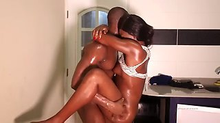 African maid fucked in the kitchen