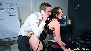 Horny boss has his way with his secretary