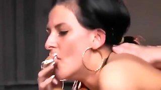 Teen smoking and riding