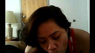 Filipina Aline sucking and swallow