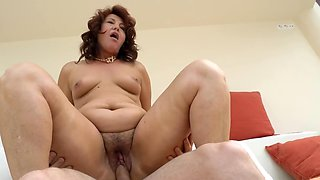 Chubby mature is still looking for a fresh piece of young cock