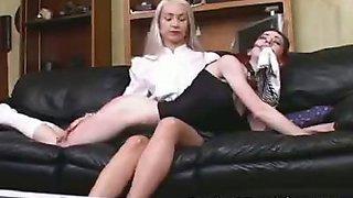 Sexy Schoolgirls Spanked
