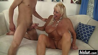 Blonde cougar wants a fat dick