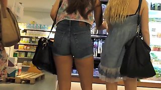 My girlfriend loves to wear very sexy and very short shorts.