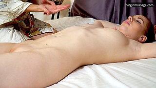 Big tits brunette virgin babe Daria Kuka massaged