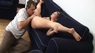 young busty flexible gymnast