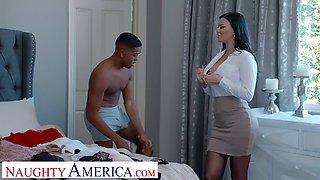 Naughty America Jasmine Jae Fucks her son&#39s friend for being nosy