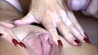 Cumshot in Mature Big Clit - Big Nipples too