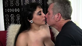 Chubby pierced girl gets fucked by an older man