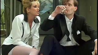 Nina hartley sucks a cock at a wedding