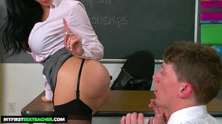 Victoria June Teaches College Student How To Properly Fuck - myfirstsexteacher