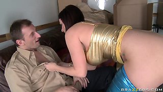 Sexy brunette whore Sophie Dee dreams to become a pornstar