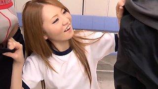 Sexy group play along insolent Sakamoto Hikari