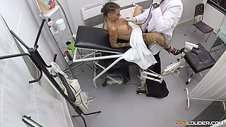 Horny doctor attacks good-looking MILF Gina Snake for a fuck