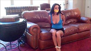 Woman estate agent bondage