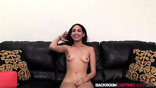 Newbie Gia ass fucked after blowjob on the casting couch