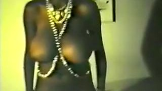 Retro Slim Black Lady With Big Tits